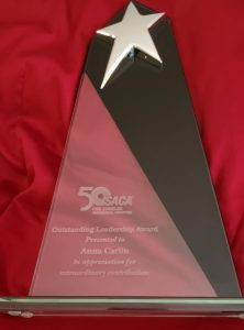 Cyber Security Anna Carlin Receives Outstanding Leadership Award ISACA Los Angeles