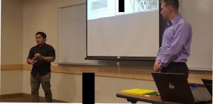 Cyber Security Career Builder Speaker Series Alumni Jared Nealeigh and Carlos Lejarde